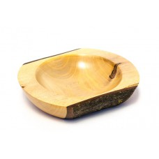 Miska z ořechové větve s kůrou